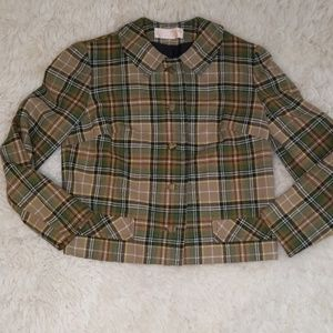 VTG 100% Wool Pendleton Plaid Blazer Jacket Size 8